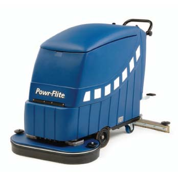 "PowrFlite PAS28DXBC: 28"" Predator Battery Powered Automatic Scrubber"