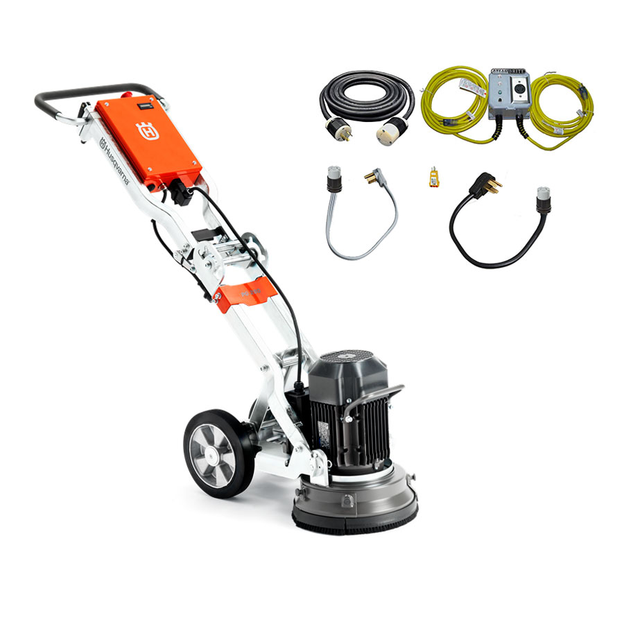 Husqvarna PG 280 Cement Floor Grinder 3 HP 11 Inch 230 Volts 967278206 Freight Included [PG280] Edger HTC 280 13Amp Power Supply Bundle
