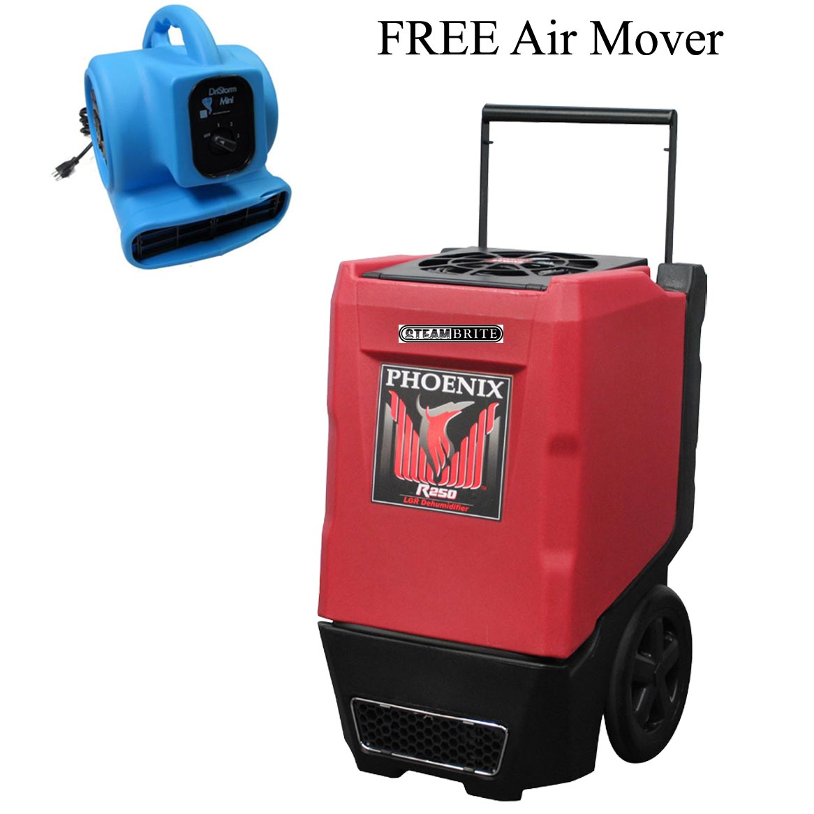 Phoenix R250 Industrial Restoration Dehumidifier- Red- 4034460 Air Mover Included