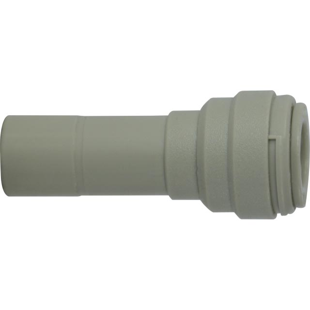 Plastic Push in Tubing Reducer 1/2 in Plastic Stem X 3/8 OD Tubing 20514P