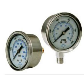 Pressure Gauge 10,000 psi Bottom Mount Stainless Steel (Right Photo) 20140122