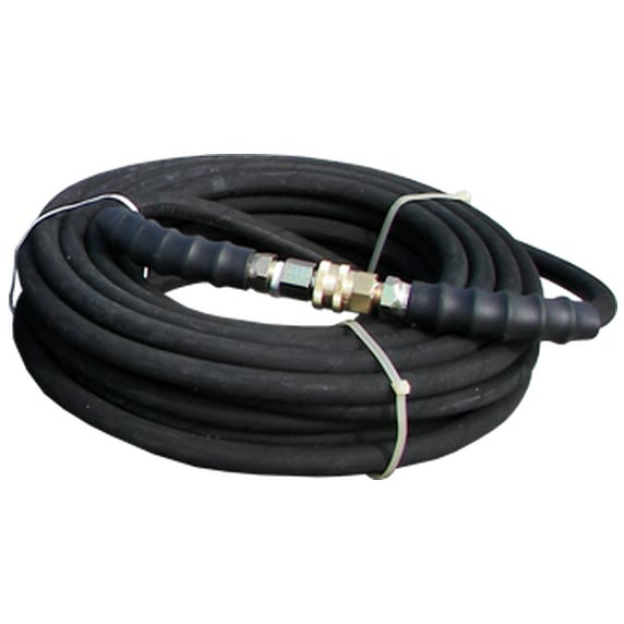 Clean Storm AHS330 Double Wire 50 ft Washer Hose 3/8 In 6000psi With Couplers Installed Black