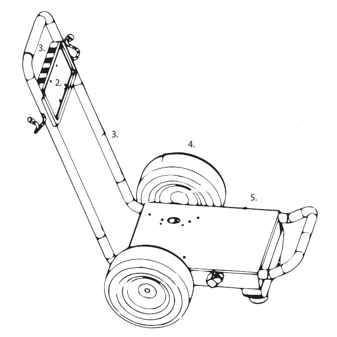BE Pressure Washer Frame and Wheels 85.600.125