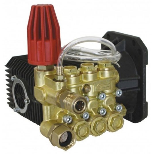 Comet ZWD4040G Pump: 1in Shaft 4000 psi Triplex Pump with Regulator Included shipping BE Pressure 85.149.022B