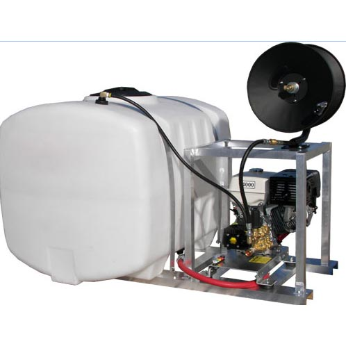 Pressure Pro SD-3024-KIT 2400 psi 3 gpm Aluminum Skid with Reel 100 gallon tank FREE Shipping
