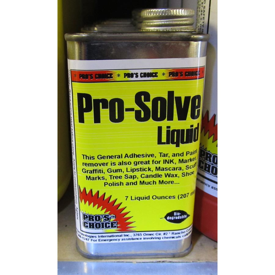 CTI 078345002713 Pros Choice ProSolve Liquid 7 oz Paint Oil Grease Gum Remover