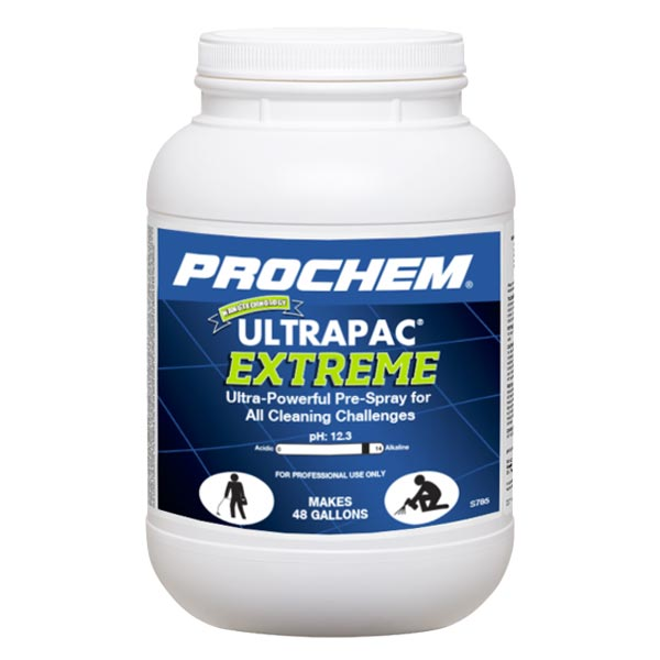 Prochem Ultrapac Extreme Powder Carpet Cleaner Prespray UPC 762858178514  6 lb. Jar