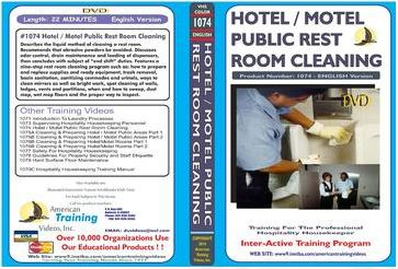 American Training Videos Hospitality Series 1074 Hotel/Motel Public Rest Room Cleaning