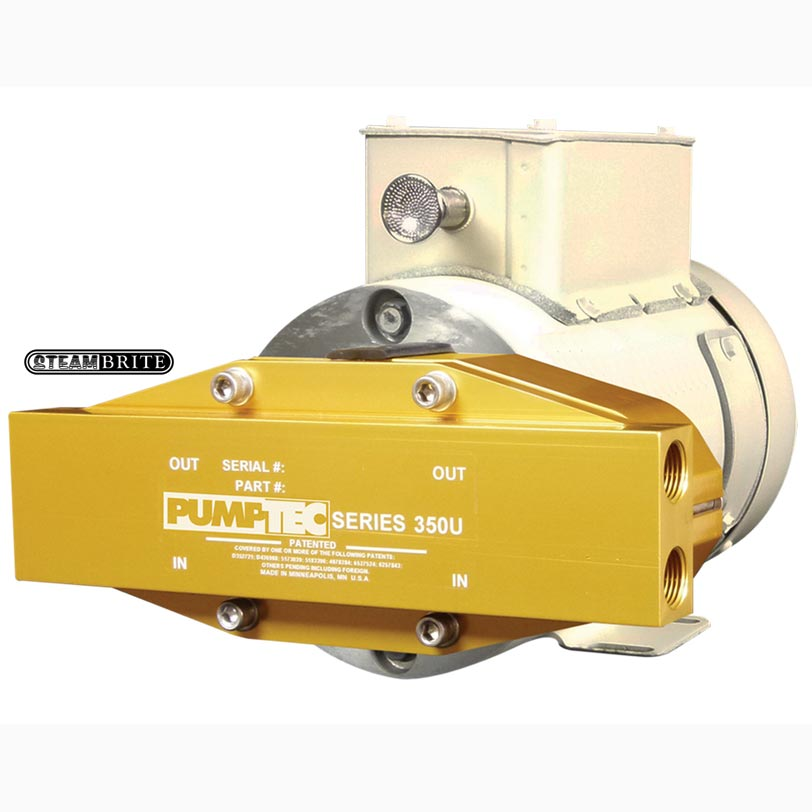 "Pumptec 350U 200psi -190/M224, 12V, Viton, M-Valve, 4-3/8"" Port, BD Gold 81161"