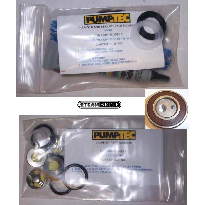 Pumptec 205V and 207V Triple Repair Pump Head Rebuild Kit 20140922