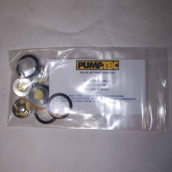 Pumptec 10022 Kit B 500 psi Valves and O-Rings kit for 205V and 207V series only 512-560