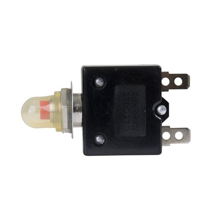 Breaker 15 Amp Push Button with Clear Boot and 1/4in Wide Wire Connections 20180911