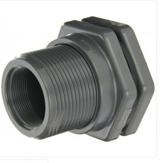 "Bulkhead PVC Fitting 1-1/2"" Fip X Female Slip"