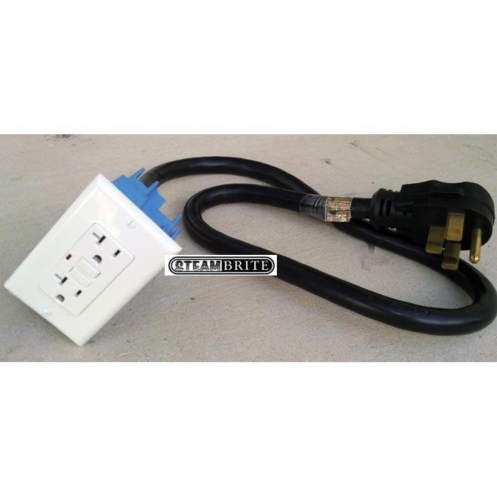 electric converter 230 volt 14 50p head to 20 amp 120 volt gfci single gang receptacle 5 20r. Black Bedroom Furniture Sets. Home Design Ideas