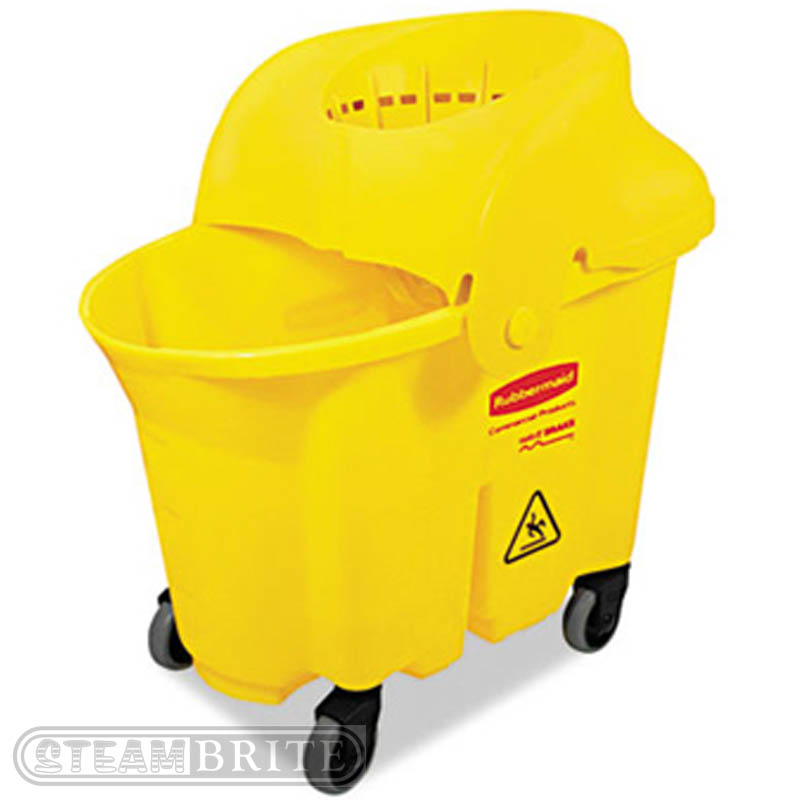 Rubbermaid Commercial: WaveBrake Institutional Mop Bucket/Strainer Combo - 35Qt Capacity