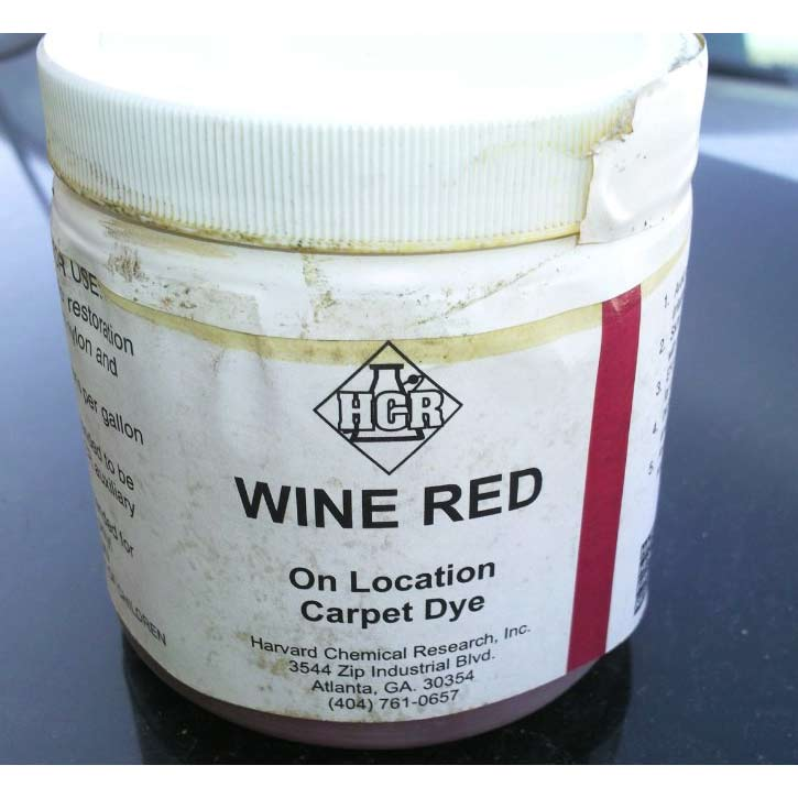 HCR Wine Red Powder Carpet Dye 1 lbs (25% off) Limited Stock