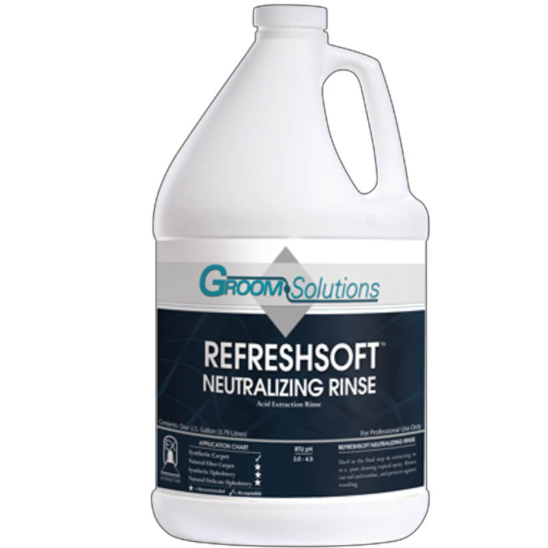 Groom Industries: Refresh Soft Concentrated Neutralizing Rinse Aid  - 1 Gallon
