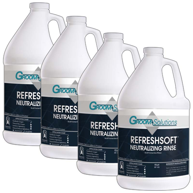 Groom Industries CC508GL-4 Refresh Soft Concentrated Neutralizing Rinse Aid Case of 4 Gallons