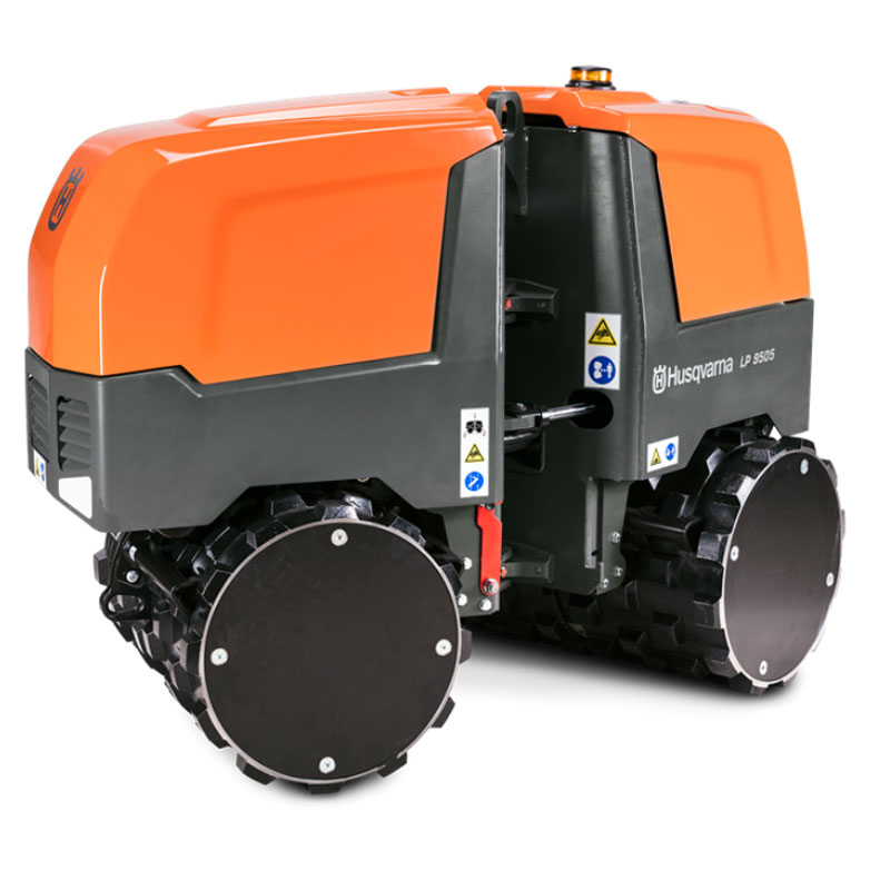 Husqvarna LP9505 Remote Control Steerable Soil Trench Compactor LP 9505 Double Drum 967950801 Freight Included