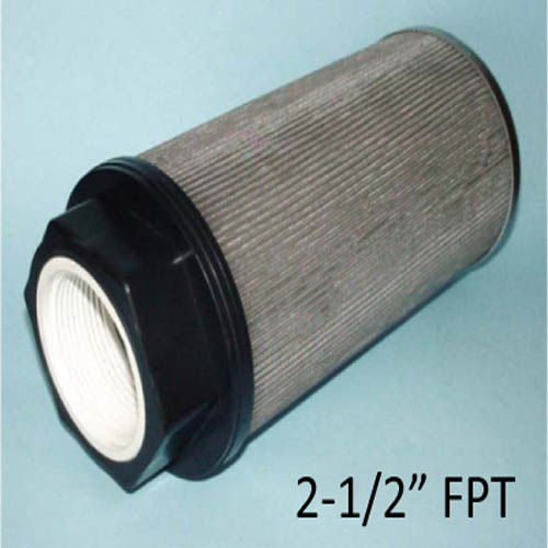 "Sapphire Scientific 20-009 Stainless Steel Truckmount Filter Waste Tank 2.5in FPT X 10"" Long 100 Mesh 17789878  PP14-806518"