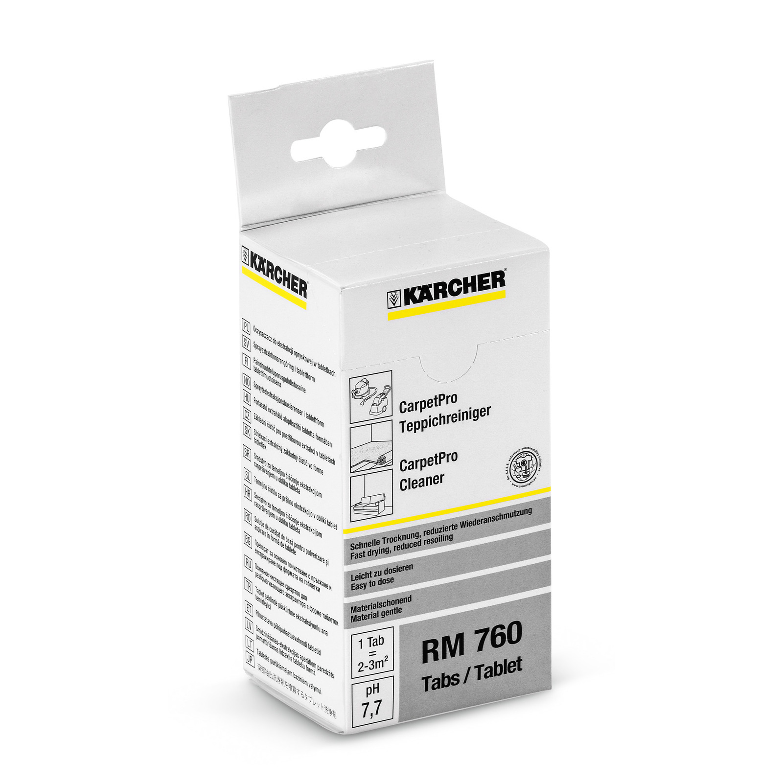 Karcher RM 760 Carpet Cleaning iCapsol Tablets 16 Count 6.290-828.0 Encapsulation No Rinse Technology 6.295-850.0