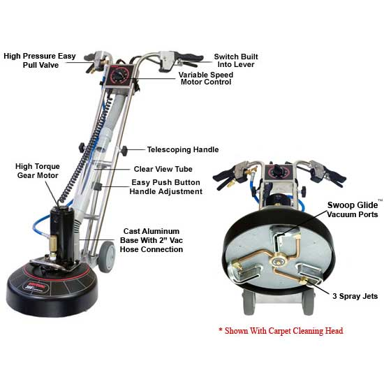 "Rotovac 360i Wand ""Power Head for High Performance Carpet & Tile Cleaning"" NO HEAD R-VAC-360i-NO"