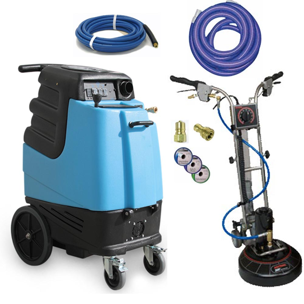 Rotovac 360i + Mytee 1000DX-200 Carpet Upholstery Auto Detail Extractor 12gal 200psi Dual 3 stage vacs Package