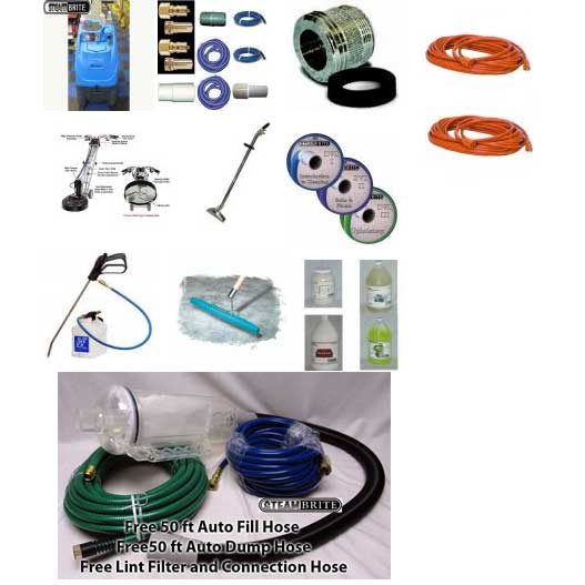 Clean Storm Carpet Cleaning Machine Starter Package Rotovac 360i 65 ft hoses 6.6 Vacuums Auto Fill Auto Dump