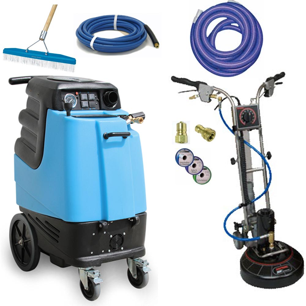 Rotovac 360i + Mytee 1005DX 12gal 500PSI Dual 3 Stage Vacs Carpet Cleaning Machine Package