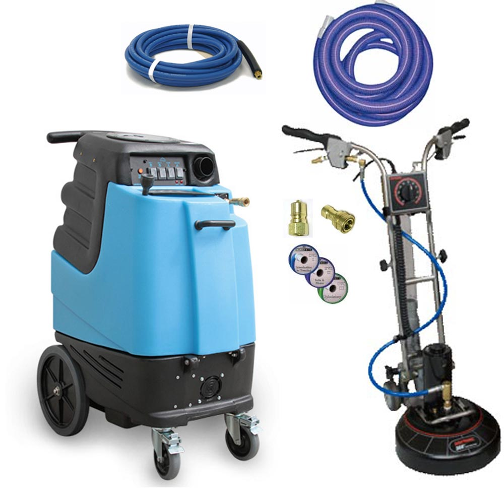 Rotovac 360i + Mytee 1001DX-200 12gal 200psi HEATED Speedster Dual 3 Stage Carpet Cleaning Machine Starter Package