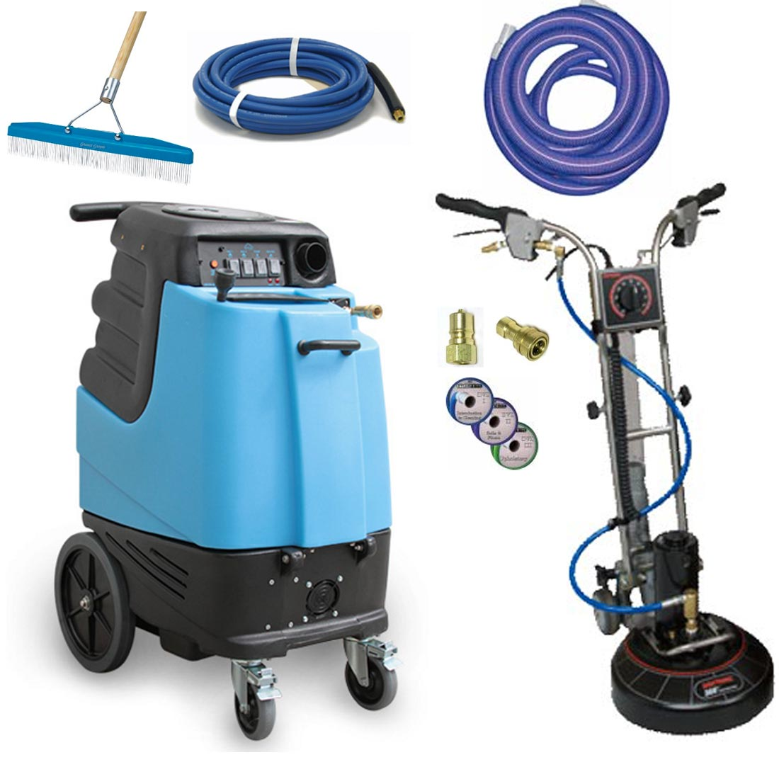 Rotovac360i 1003DX Mytee Speedster 12gal 500psi HEATED Dual 3 Stage Vacs Carpet Cleaning Extractor Package
