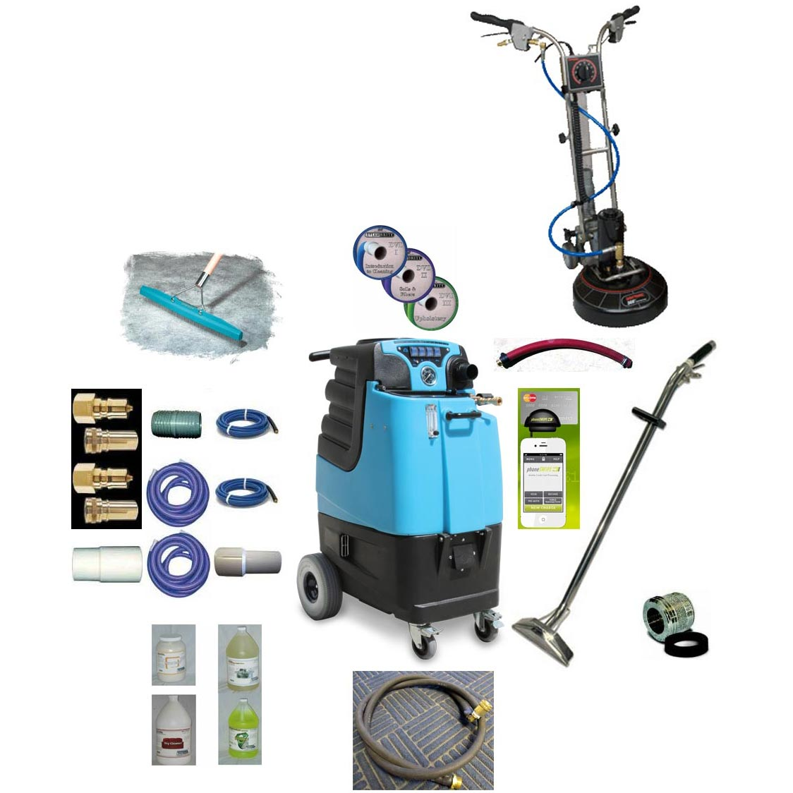 Rotovac 360i + Mytee LTD12 Speedster Tile and Carpet Cleaning Machine 12gal 1000psi Dual 3 Stage Vacs Auto Fill Auto Dump Basic Package [Rotovac 360i LTD12]