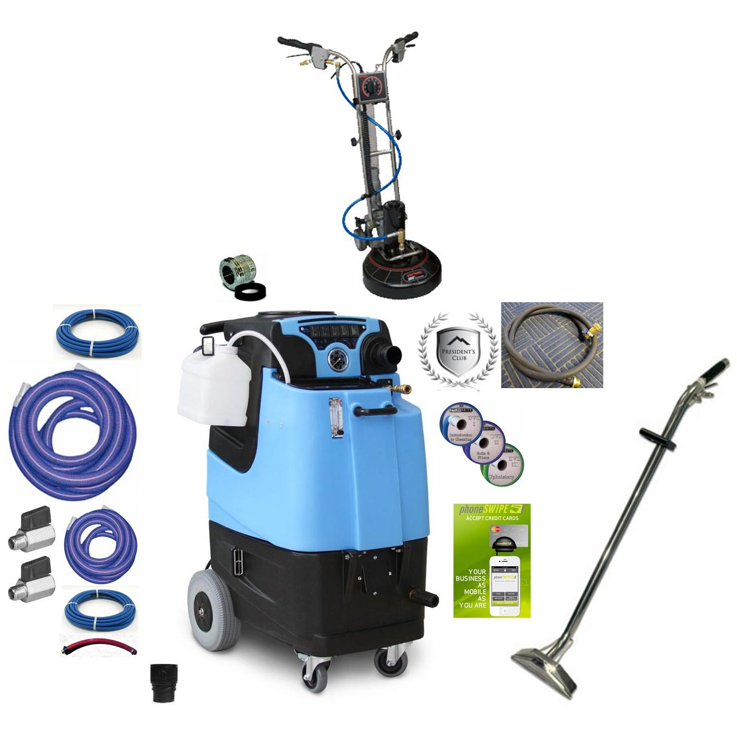 Rotovac 360i + Mytee LTD3 Starter Package Speedster Carpet Cleaning Machine 12Gal 500psi HEATED Dual 3 Stage Vacs Auto Fill 3gpm Auto Dump With Accessories