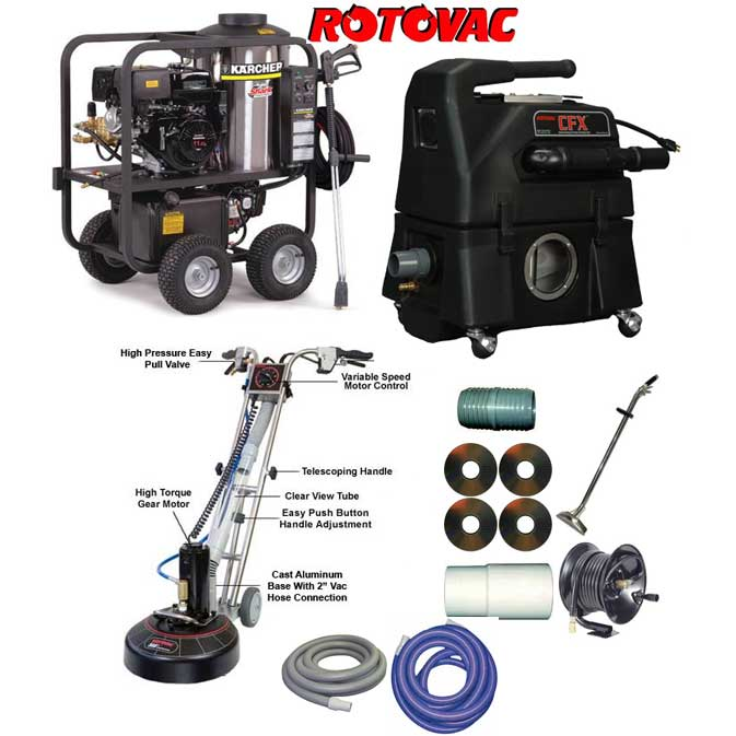 Rotovac 360i CFX Shark Steam Cleaning Starter Package
