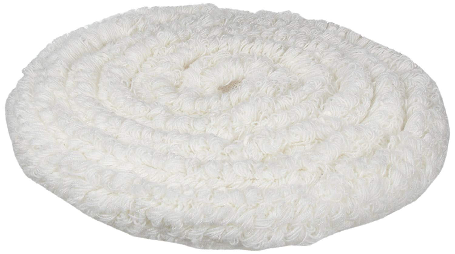 "Rubbermaid Commercial P121 Standard Thickness Carpet Bonnets, Carpet, 21"" Diameter, White"