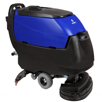 Pacific Floorcare 875401 S-24 disk scrubber 260AH lead acid batteries on-board charger and pad drivers