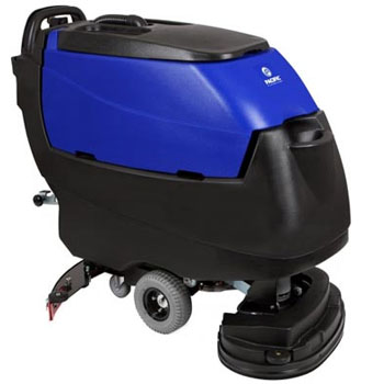 Pacific Floorcare 855420 S-24XM disk scrubber, transaxle drive, 155AH lead acid batteries, on-board charger & pad drivers
