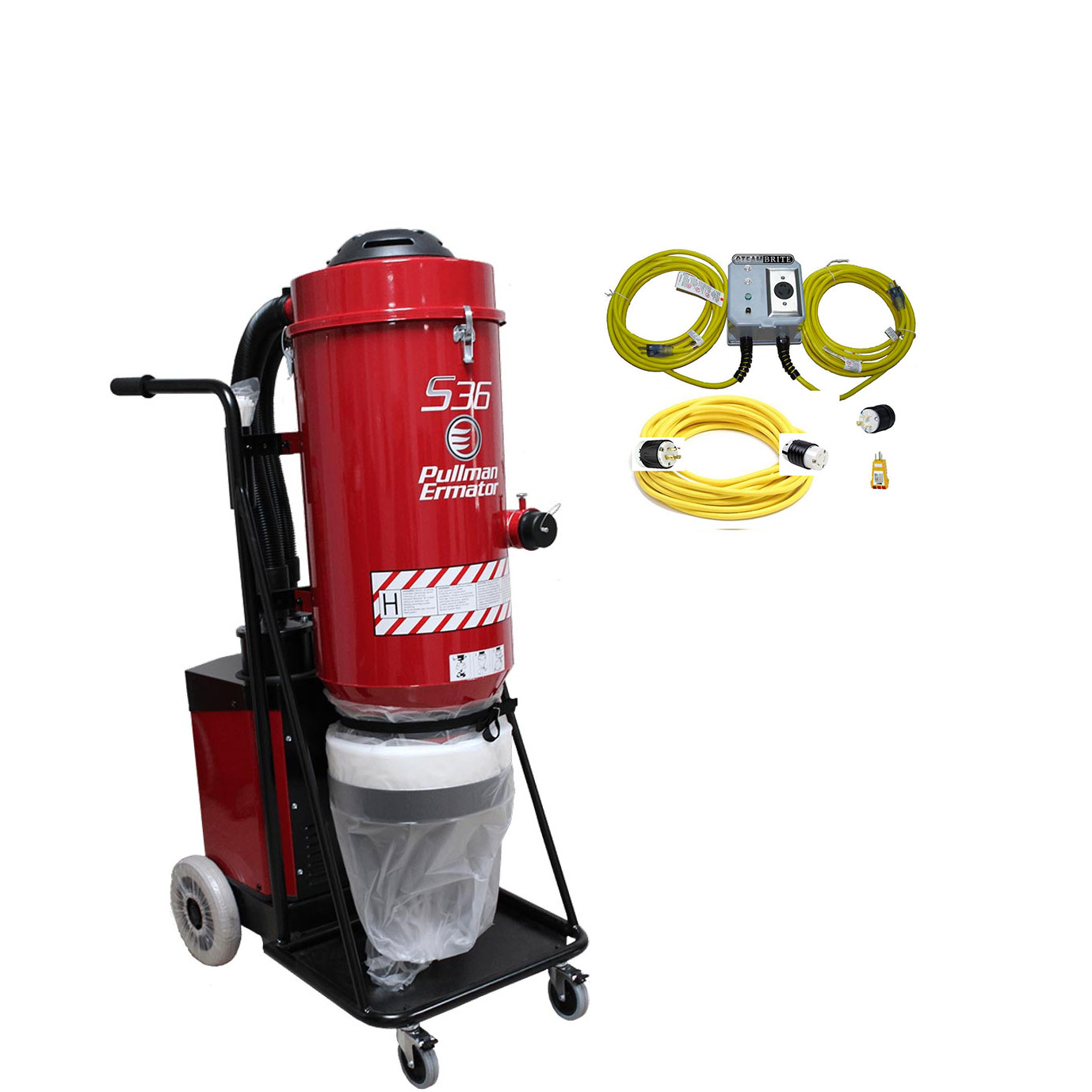 Husqvarna Pullman Ermator S36 Hepa Vacuum 240V 14Amp 353Cfm Dust Collector Power Supply 967818001 Bundle [69654895] Freight Included HTC D30