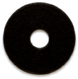 "PowerFlite 16 inch 1"" Thick Black Stripping Pad for Wet Stripping"