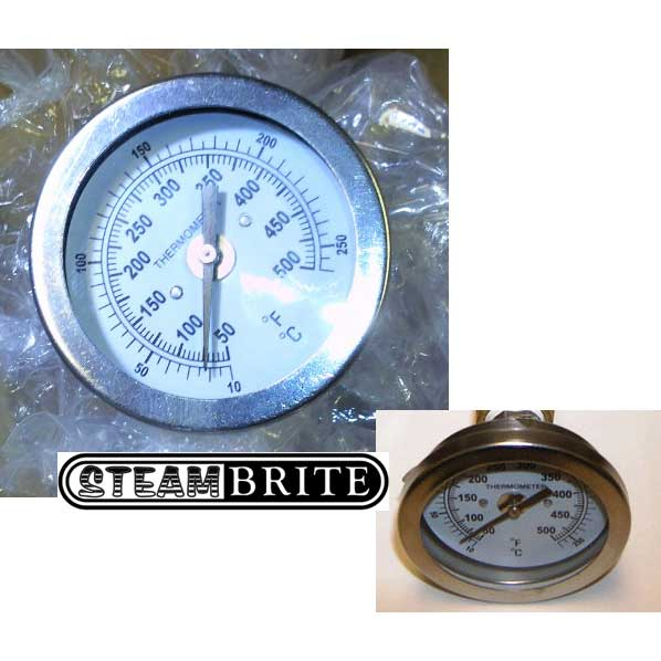 Admiral Water Temperature Gauge 50-300 degrees F Dial 2-1/4in 1/4in Mip Connection 78121560
