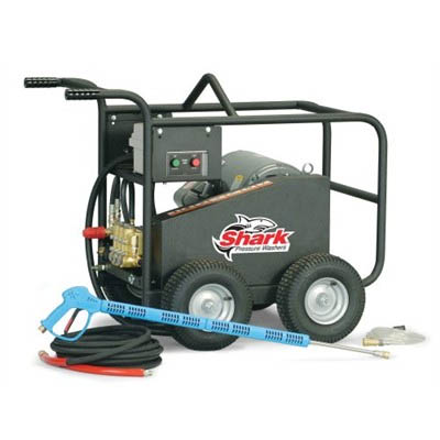 Shark Electric Driven Roll Cage Cold Water Pressure Washer 5 GPM 5000 PSI 26 Amp 1.106-060.0 BRE505007C