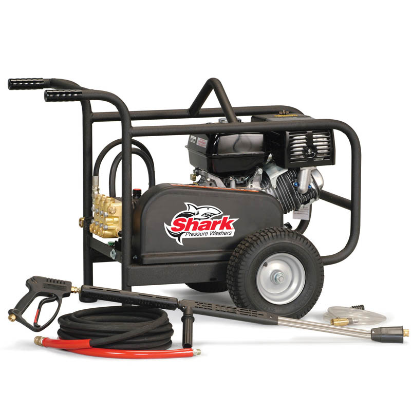 Shark: Extra-Rugged, Cold Water-Diesel Powered-Pressure Washer-3.4GPM-3000PSI-9.8E/HP-BR-343067E
