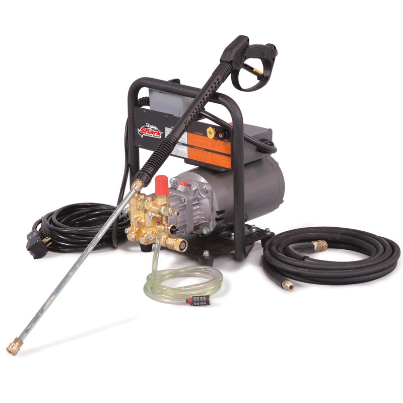 Shark: Lightweight, Cold Water, Hand-Held, Electric Powered, Pressure Washer and tile cleaning pump-1.8GPM-1400PSI-2HP-120V-HE-201406D