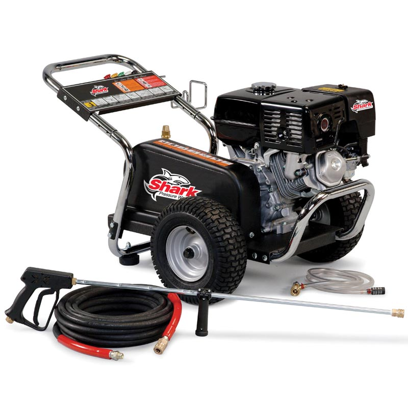 Shark  Cold Water Gas Powered Belt Driven Pressure Washer 2.8GPM 2000PSI 5.5HP 1.107-142.0 BG-282037