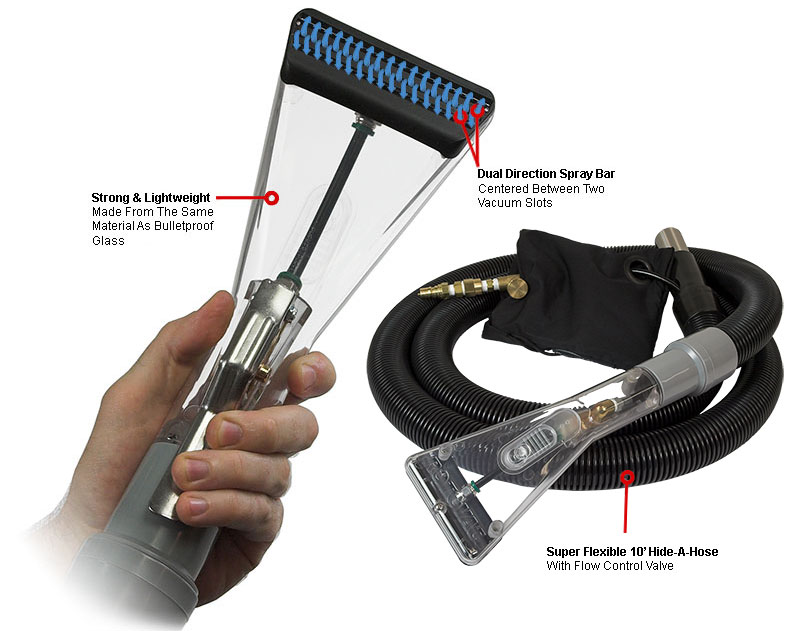 Rotovac Clear ShearDry Hand Wand Internal Spray Bi-directional Fiberglass Tool Bi-Directional Cleaning R-VAC-SHEAR-C Freight Included