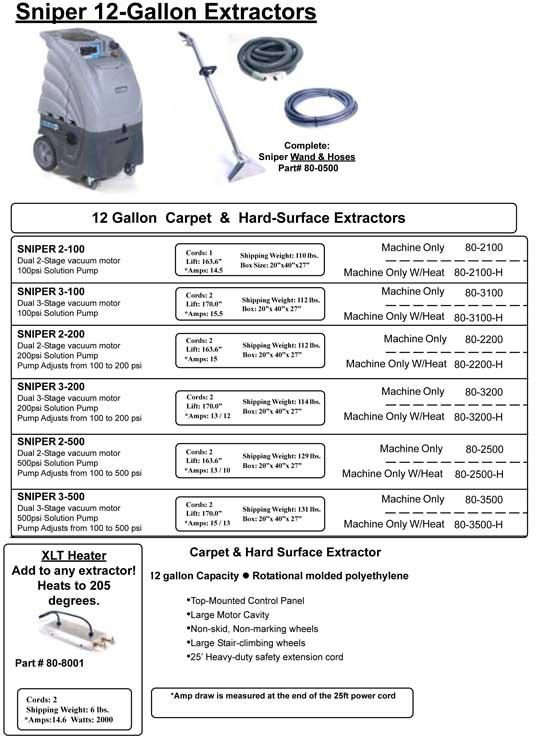 sniper carpet cleaning machine extractor