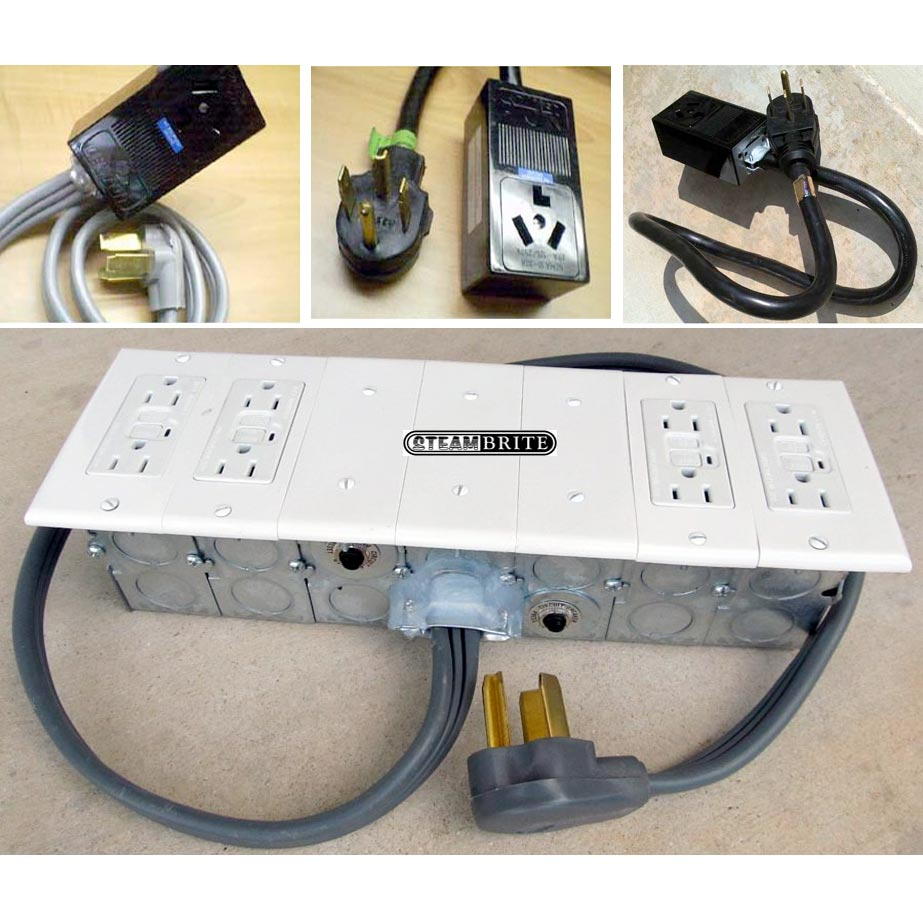 Clean Storm Restoration Spider Box Starter Package 4 Head 230 volt to 4 gang 5-20R GFCI with Breakers 20151104