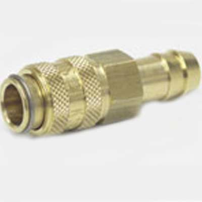 Heat Seal Equipment: 3/8in Hose Barb x Female QD