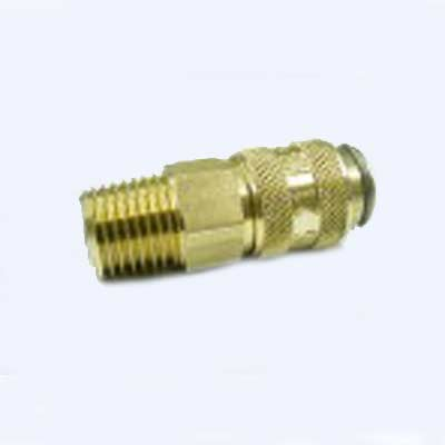 Heat Seal Equipment SS2A: 1/4in NPT Male Thread x Female QD coupler socket