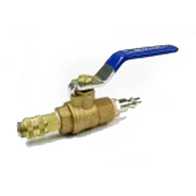 Heat Seal Equipment: Ball Valve with Scorpion Female QD 1/4in fittings